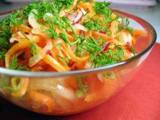 Недорогой зимний салат «Витаминный»